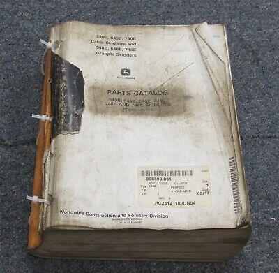 John Deere 540e 640e 740e 548e 648e 748e Skidder Parts Manual Catalog 2004