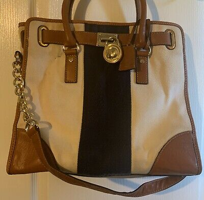 MICHAEL KORS Purse Bag Leather/Canvas FREE SHIPPING