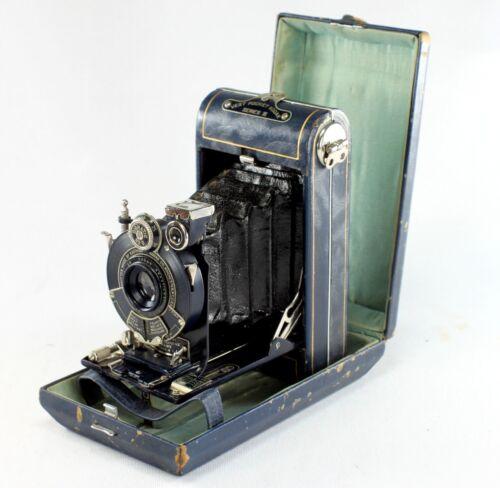 Kodak Blue Vanity Camera, Vest Pocket Series III, with original case & stylus