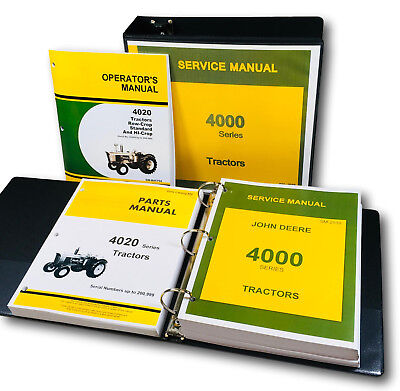 Service Parts Operators Manual Set For John Deere 4020 4000 Tractor Catalog Oh