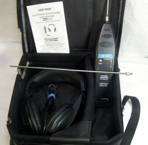 Cen-Tech Electronic Stethoscope Complete in Excellent Condition - See Pictures