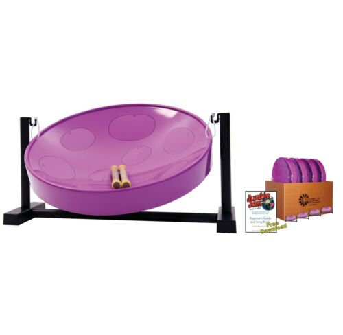 Jumbie Jam Steel Drum Educators 4-Pack – Table Top Stands - Purple Pans (G)