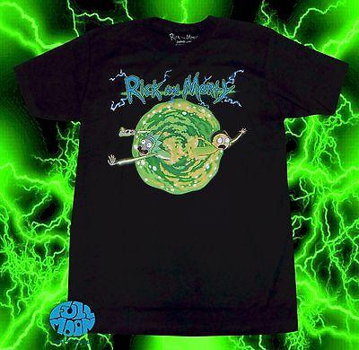 New Mens Cartoon Network Rick And Morty Portal Mens T Shirt
