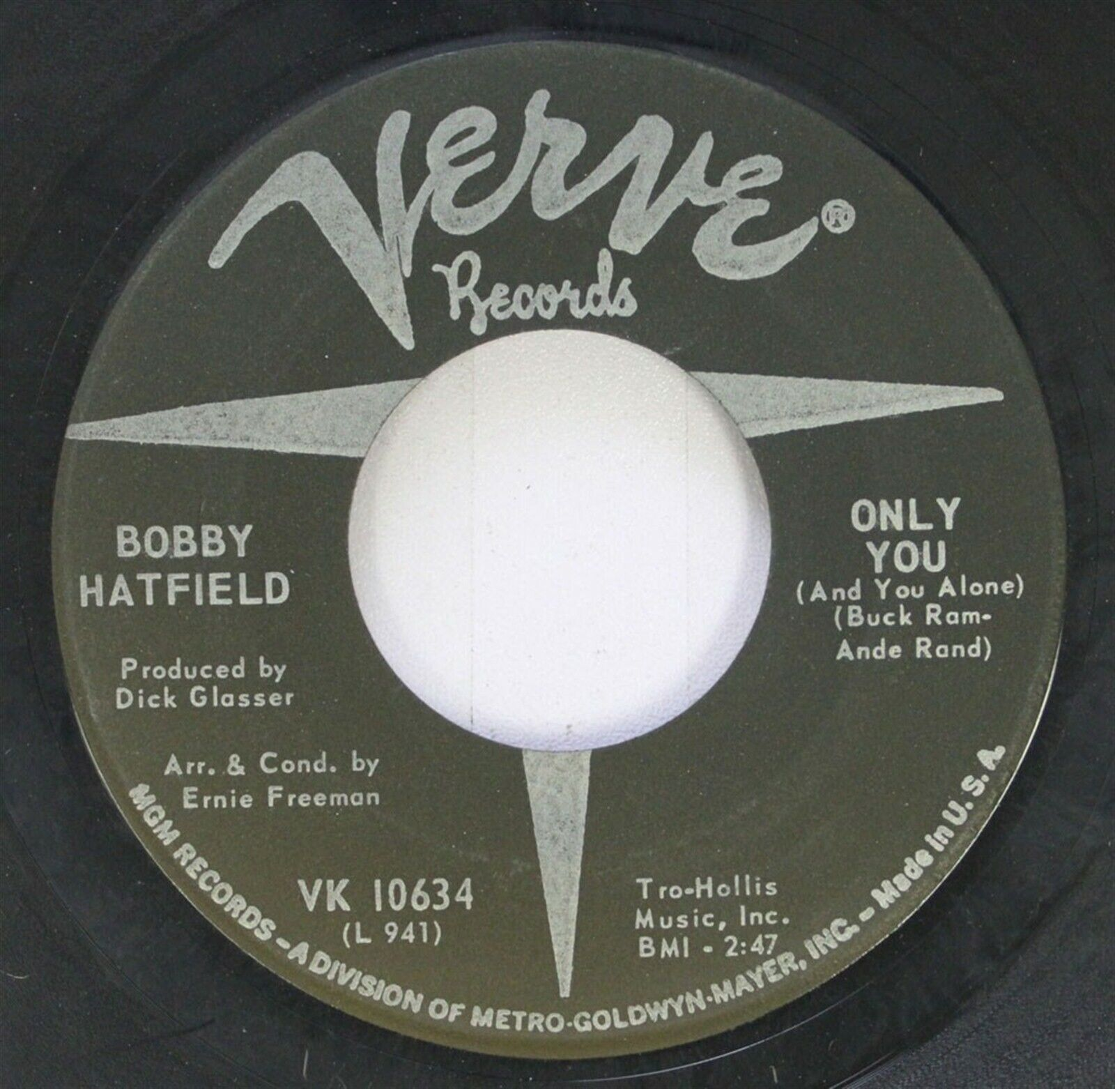 Image result for bobby hatfield only you single image