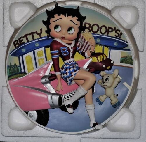 BETTY BOOP AT THE DRIVE-IN Danbury 1999 Collector PLATE Figure Statue Figurine