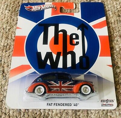 2013 Hot Wheels Fat Fendered 40 The WHO Pop Culture red/blue Real Riders metal
