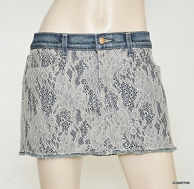 Nwt Joe's Jeans Cutoff Lace/Denim Mini Skirt  ~Blush MWI26310 *29