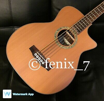 SALE 🔥 Michael Kelly Club Deluxe 5 String Acoustic Cedar Rosewood BASS Guitar
