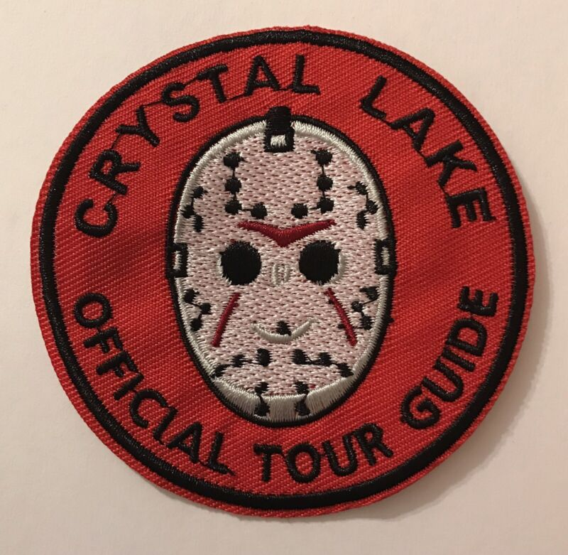 🎃 Crystal Lake Tour Guide Horror Iron On Patch Friday 13th Movie Jason Voorhees