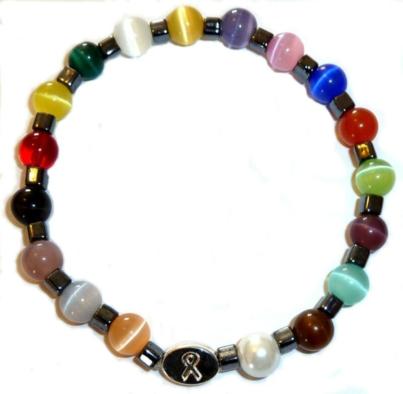 Men's Cancer awareness Bracelet 18 Colors Stretch