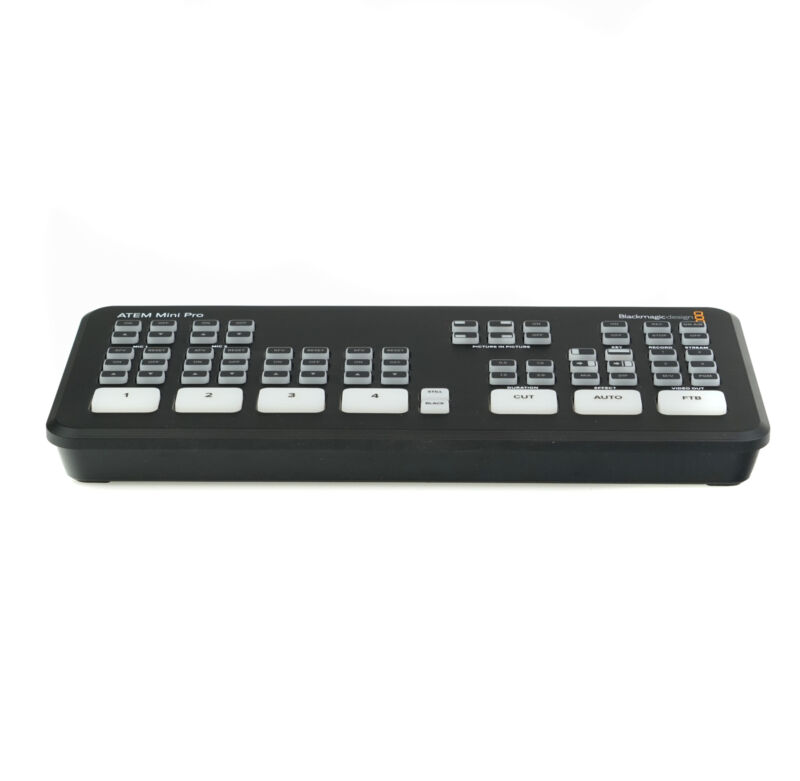 Blackmagic Design ATEM Mini Pro HDMI Live Stream Switcher Black