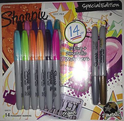 Sharpie 14-ct. Special Edition Fine Point Markers 12 Fine 2 Metallic Markers