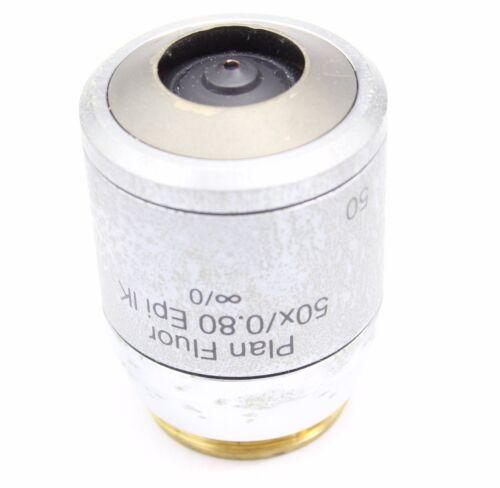 Plan Fluor 50x 0.80 EPI IK Microscope Objective Reichert Polylite Polyvar