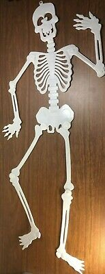 Halloween Skeleton Silhouette (Skeleton White Plastic Halloween Wall Door Decoration Silhouette 35.25 in.)