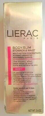 LIERAC Paris Body Slim Stomach & Waist Multi Action Concentrate Cellulite 3.4 oz