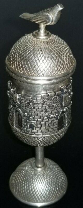 ANTIQUE VTG JEWISH SILVER 925 SPICE BOX TOWER JUDAICA 103 GRAMS RARE!