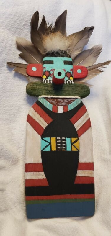 Vintage HOPI Indian, Hand Crafted ,Wood  Flat ,Kachina Doll ,Dawn of Morning