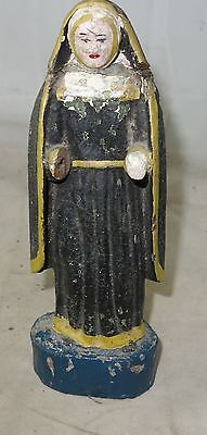 alte Holzfigur Bäuerliche Heiligenfigur #3