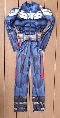 Marvel Boys Captain America Muscle Halloween Dress Up Costume Size M 8 ()