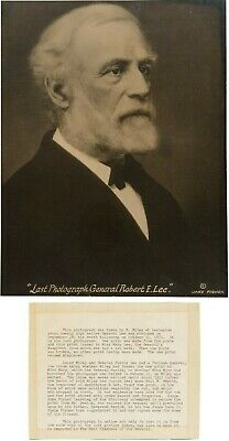 Last Photograph of Robert E Lee Taken One Month Before His Death - w/ Provenance (Black & White Photographic Monthly)