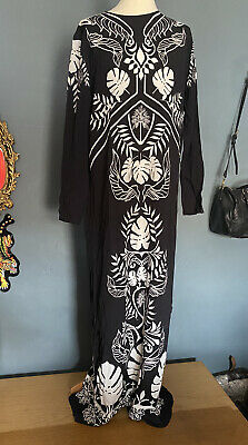 Johanna Ortiz x H&M Long Viscose Maxi Dress/tunic Size M SOLD OUT Black White