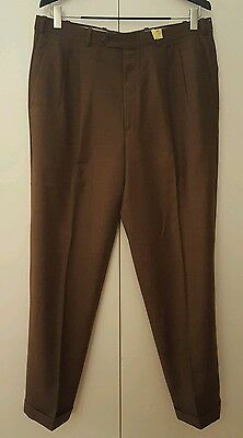 NORDSTROM BY JB BRITCHES BROWN PLEATED DRESS PANTS 36