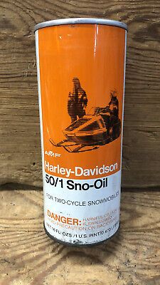 Vintage Harley Davidson 50/1 Sno-Oil Can . Full And Sweet!