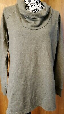 COLUMBIA  Cowl Neck Womens Heathered Olive Green Sweatshirt Sz Large Heathered Olive Green