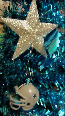 UNIQUE NFL Cowboys Star HANGING CHRISTMAS DECORATION HELMET Riddle ORNAMENT  - Dallas Cowboys Christmas Decorations