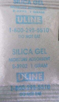50 - 1 Gram Silica Gel Packets - Desiccant Packs - New