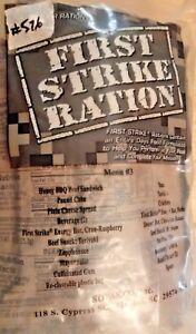 First Strike Ration MRE (2016) Menu #3 (#576)