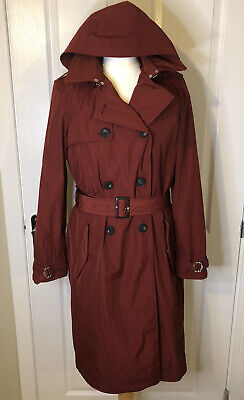 TIMBERLAND Mid-length Designer Waterproof Classic Trench Coat Mac Raincoat £275