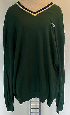 Lacoste LIVE Mens Green Size 8 3XL Crew Neck Pullover Sweater