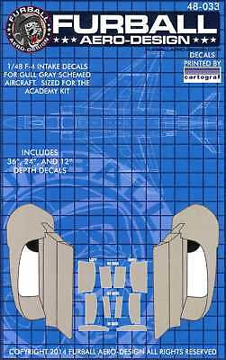 Furball Decals 1/48 F-4 INTAKE DECALS for Gull Gray Schemed F-4 Phantom II for sale  USA