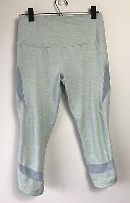 Zella Women's M Capri Crop Leggings Stripe Mesh Inserts Yoga Fitness