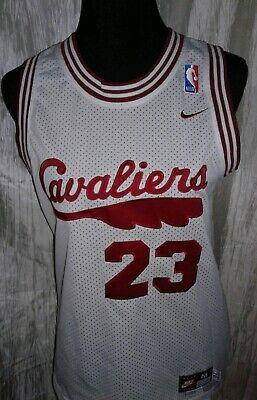NEW Cleveland Cavaliers Lebron James Jersey Sewn Nike White Youth Size Medium ()