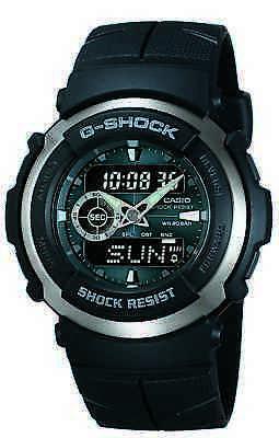 300 Black Resin Watch - Casio G-Shock Men's Street Rider Black Resin Sport 44mm Watch G300-3AV