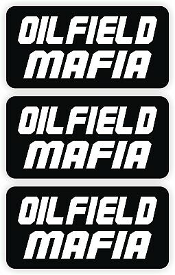 Oilfield Mafia Hard Hat Stickers 3-pack Roughneck Motorman Decals Helmet