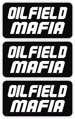 Oilfield Mafia Hard Hat Stickers 3-pack Roughneck Motorman Decals Helmet