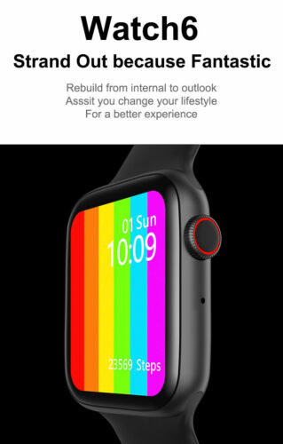 Smart+Watch+Series+6+%28Black%29+For+Android+%26+Apple+IOS%2FWith+blood+pressure+meter+