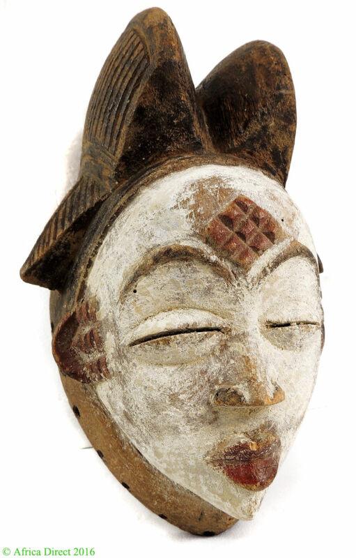 Punu Maiden Spirit Mask Mukudji White Gabon African Art