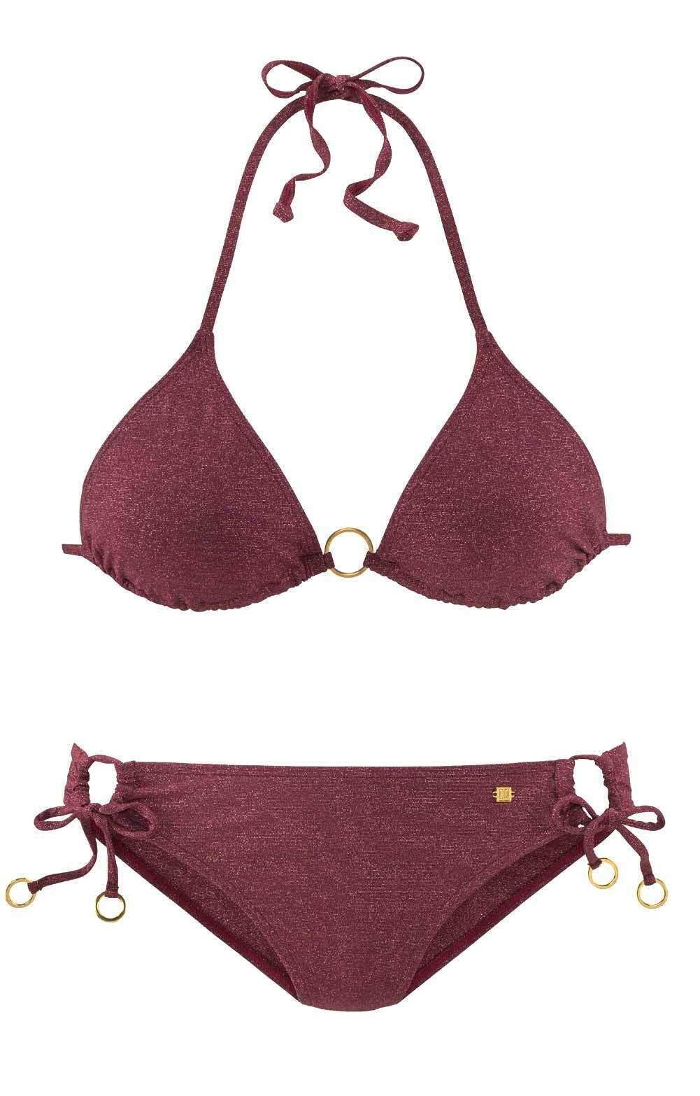Jette Joop Designer Triangel Bikini bordeaux Cup C/D Gr 34 36 38 40 42
