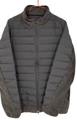 White Mountaineering nylon and fleece light puffer jacket, size 4. NWOT.