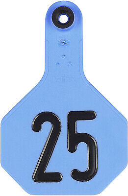 Ytex 3 Star Medium Cattle Id Ear Tags Blue Numbered 1-25