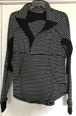 Lululemon Women's Jacket Define Yoga Black White Striped Size 10