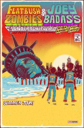 FLATBUSH ZOMBIES | JOEY BADASS | UNDERACHIEVERS Tour 2019 Ltd Ed RARE Poster!