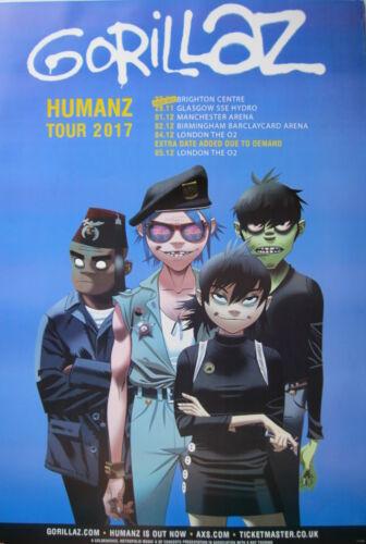 "GORILLAZ ""HUMANZ TOUR 2017 WITH U.K. DATES"" POSTER FROM ASIA - Damon Albarn"