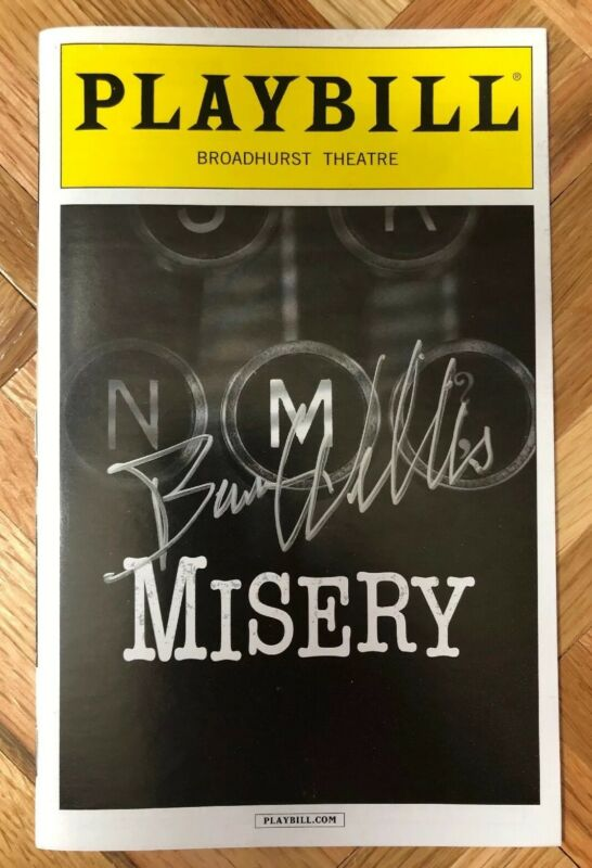 """Bruce Willis Signed Broadway Playbill """"Misery"""" with Photo Proof"""