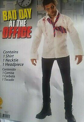 Funny Halloween Costumes Office (New Funny Halloween Costume L 36-38 Bad Day At The Office Button Up Tie)