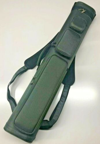 J&J All Grey Duranylon 4 Butt 8 Shaft Cue Case W/ Back Pack Strap